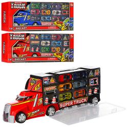 Трейлер контейнер с отделением для машин, мет. машинки, SQ80506-AF-SQ80512-F