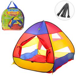 Палатка 112-114-115см (пирамида, 1 вход, липучка, сумка) M 3306