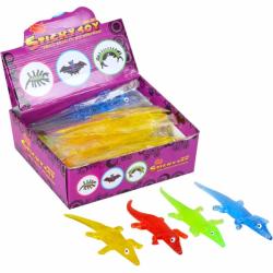 Игрушка Лизун крокодил цветной В-182