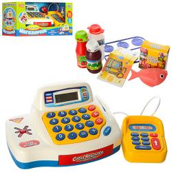 Кассовый аппарат (калькулятор, продукты) муз. (Рус.), Свет, бат., 7020-UA