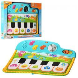 Пианино крепится к кроватке, 3 режима (звук, свет, на батарейках), 0217 NL
