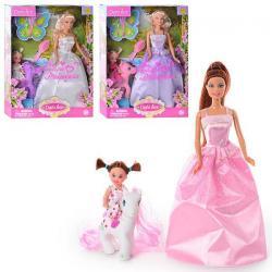 Кукла 29см, дочь, лошадка, аксессуары, DEFA 8077