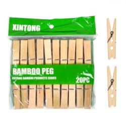 Прищепки для белья Бамбук малые 250/1
