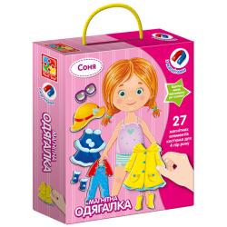 Магнитная игра-одевалка Соня (укр) VT3702-07