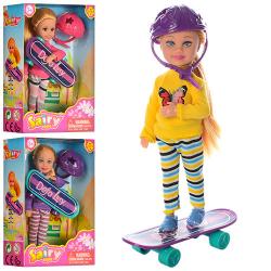 Кукла 13,5см, скейт, шлем 8295