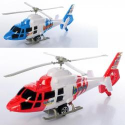 Вертолет 35см заводной, вращается винт, ездит, 2288A