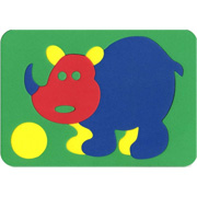 Мозаика-вкладыш мягкая Носорог