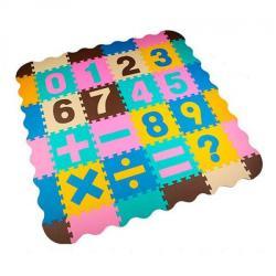Коврик Мозаика EVA, напольное покрытие, 1 текстура, пазлы, цифры 16 дет. 61-32-12 см M 6095