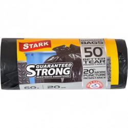 Пакеты для мусора STARK сверхпрочный 60х80 60л 20 шт.