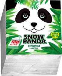 Салфетки белые 100шт Снежная Панда