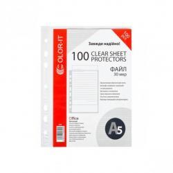 Набор файлов-карманов 100шт COLOR-IT А5 + 30 мкм