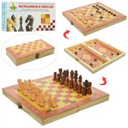 Шахматы деревянные 3в1 (шашки, нарды) 1680EC
