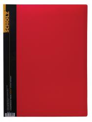 Папка SCHOLZ А4 10 файлов красная 06500