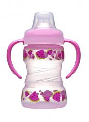Бутылка с мягким носиком (девочка) 260мл 35102