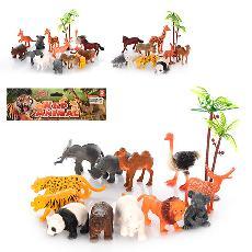 Животные дикие 12 шт., 3 вида, кул.,