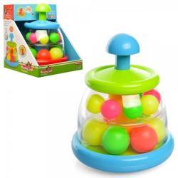 Волчок 22см, 2 яруса, пластмассовые шарики, 324