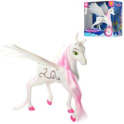 Лошадка 23см ангел с крыльями (муз., свет, бат.), DEFA,  8325