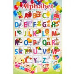 Плакат Английский Алфавит 45х60 см картон мелованный