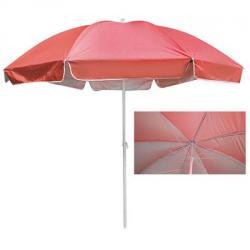Зонт пляжный Stenson 3м карбоновые спицы, с серебристым покрытием, MH-3323-R