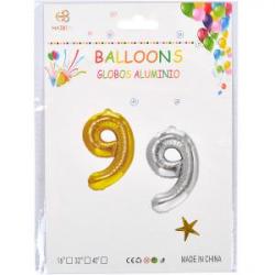 Надувные шарики 40см золото-серебро 35-7 №9
