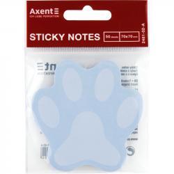 Блок бумаги с клейким слоем голубой 70x70мм 50л. Paw Axent 2481-02-A