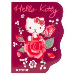 Блокнот 60 листов клетка А6 с фигурной вырубкой Hello Kitty Kite HK19-223