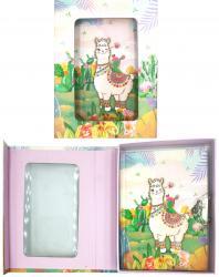 Блокнот детский  Лама  на замочке в подарочной коробке MALEVARO A641902