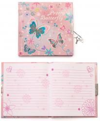 Блокнот детский  Милая бабочка  на замочке MALEVARO 480710-U