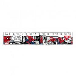 Линейка YES Marvel 15см, 370552