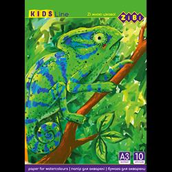 Бумага для акварели 10 листов А3 Zibi 1981