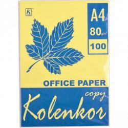 Бумага для ксерокса Коленкор CANARY А4 100 л 80г / м² пастель