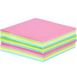 Бумага для заметок с клейким слоем COLOR-IT 76х76мм 100 листов разноцветная