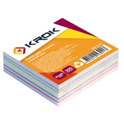 Бумага для заметок KROK Микс клееная 85х85мм 300 листов разноцветная