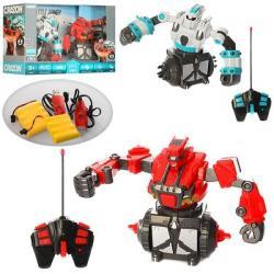 Набор игровой - робот 2 шт. 18 см на радиоуправлении (аккумулятор, USB зарядка, звук, свет), 17XZ01B