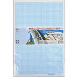 Бумага масштабно-координатная для черчения Графика А4 20 листов