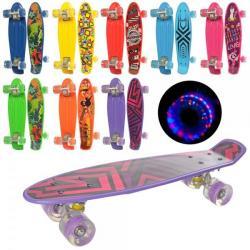 Скейт пенни 56-14,5см, колеса ПУ, MS 0749-1