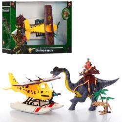 Игровой набор Dinosaur World гидросамолет с динозавром, 2121-26B