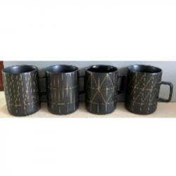 Чашка 420мл  Golden lines  Stenson RX00826