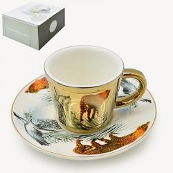 Чашка с блюдцем Stenson анаморф Гепард 90мл, R88429