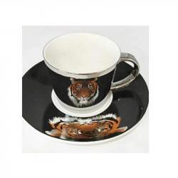 Чашка с блюдцем Stenson анаморф Тигр 230мл, R88433