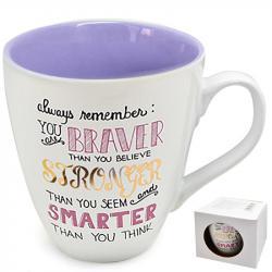 Чашка Stenson  Braver Stronger Smarter  550 мл, 10318