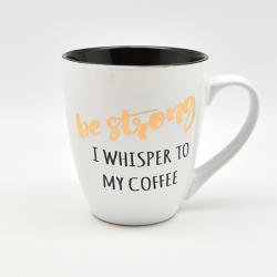 Чашка Stenson  Be strong , - I whisper to my coffee  550 мл, 10316