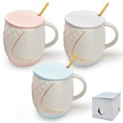Чашка Stenson Line с крышкой и ложкой 400мл, R88392