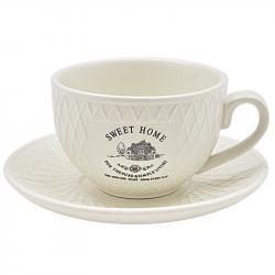 Чашка з блюдцем Stenson Sweet Home 250 мл, MC2858