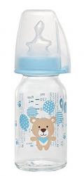 Стеклянная бутылка антиколикова с соской 125мл S 35069