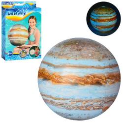 Мяч надувной Юпитер 46см 31043