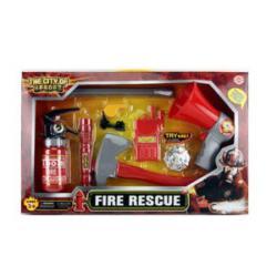 Набор пожарного (огнетушитель, лом, фонарик, рупор, свет, бат. (Табл) F002
