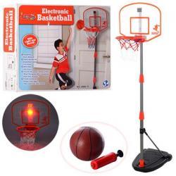 Баскетбольное кольцо на стойке металл 97-170см, щит 43-34см, мяч, насос, сетки, M 3548