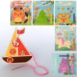 Деревянная игрушка Шнуровка, MD 2524