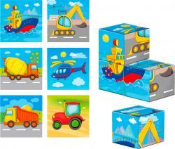 Деревянные кубики.Транспорт ZB1001-03